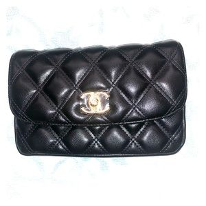 Chanel VIP Leather Fanny Pack/Waist Bag